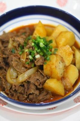 牛肉と長芋のピリ辛煮2