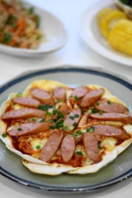 韓流餃子ピザ