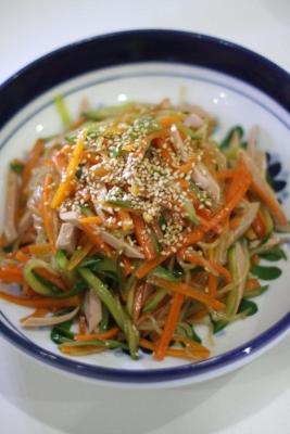 野菜たっぷりヘルシー中華風春雨サラダ1