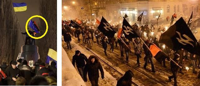 今写真見ると、赤黒の旗(極右集団のもの)が出てたんですね