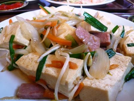 のりのり亭:豆腐チャンプルー
