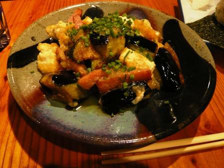 とぅまーる:茄子と豚肉の炒め物