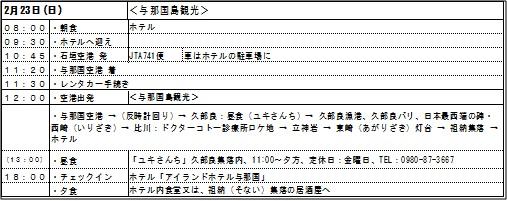 石垣島観光2日目