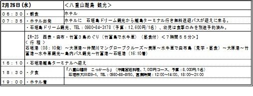 石垣島観光5日目