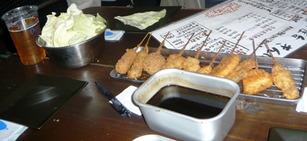 串かつ屋台きんぱち:串かつおまかせ10本盛り