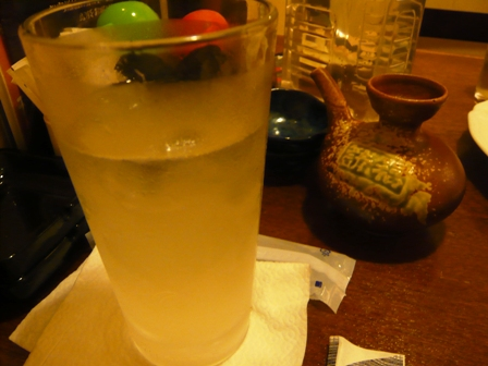 あじ小屋:レモンサワー、白百合