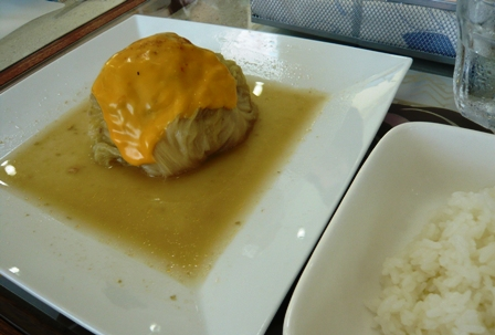 ハイタイドカフェ:石垣牛のロールキャベツチーズ乗せ
