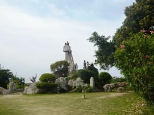 07息子達の石垣観光:竹富島;ものみの塔2