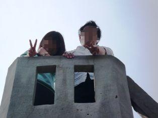 08息子達の石垣観光:竹富島;ものみの塔1