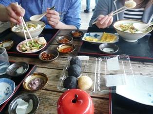 20息子達の石垣観光:豆腐の比嘉;ゆし豆腐そば