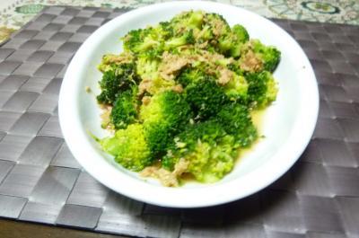 ブロッコリーとツナの炒め物