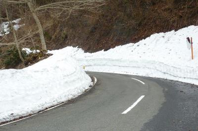 美山の里雪