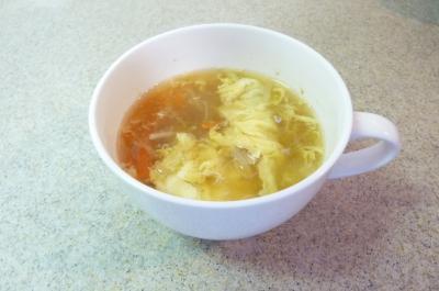 千切り野菜のかき玉スープ
