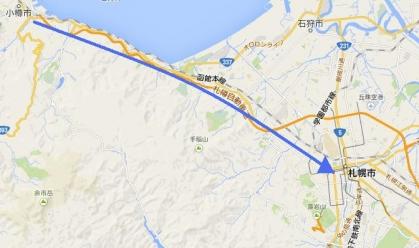 地図小樽札幌