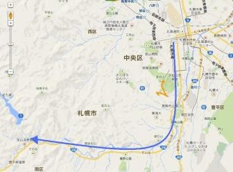 地図札幌定山渓