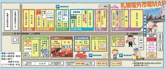 札幌場外市場マップ