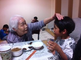 祖母とひ孫