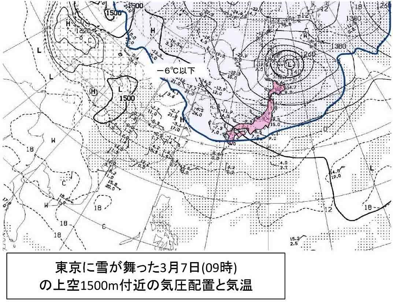 寒さが続く日本上空(3)