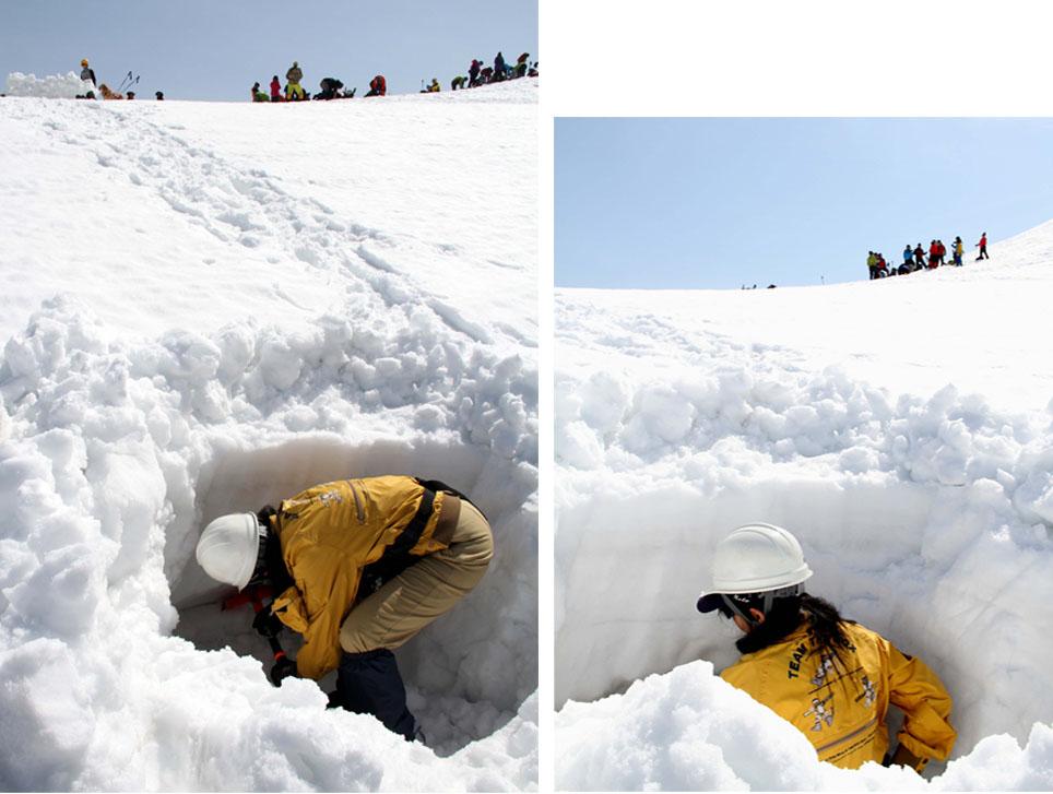 谷川岳雪中捜索訓練(33)