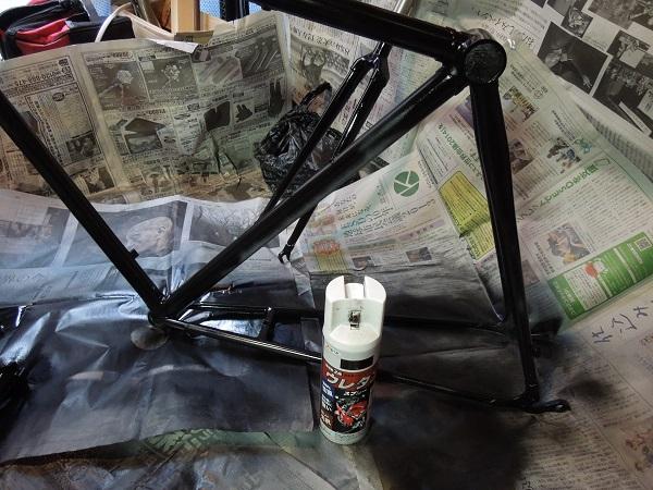 自転車の 自転車 塗装 スプレー つや消し : 自転車は人生 フレーム完成 ...
