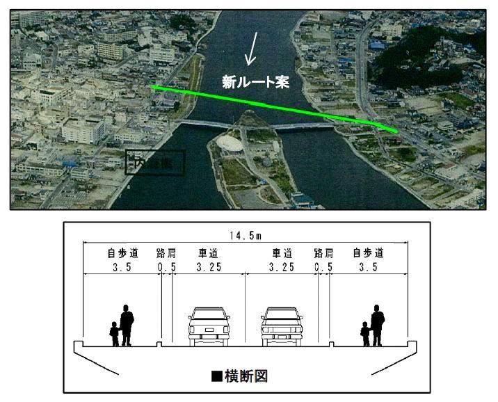 石巻・新内海橋が近く着工 工期1...