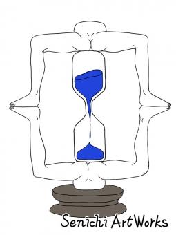 脚フレーム砂時計