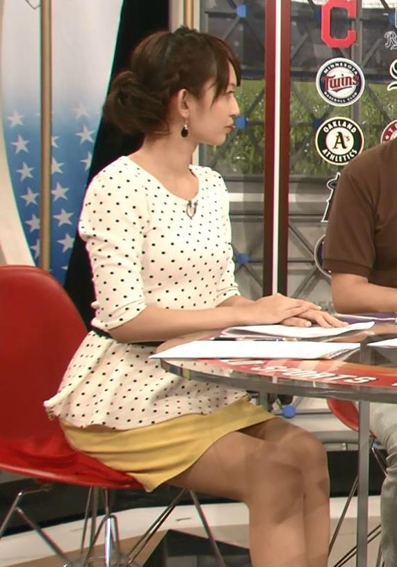 戸室穂美 ミニスカ太もも&▼ゾーン (ワールドスポーツMLB 20140901)