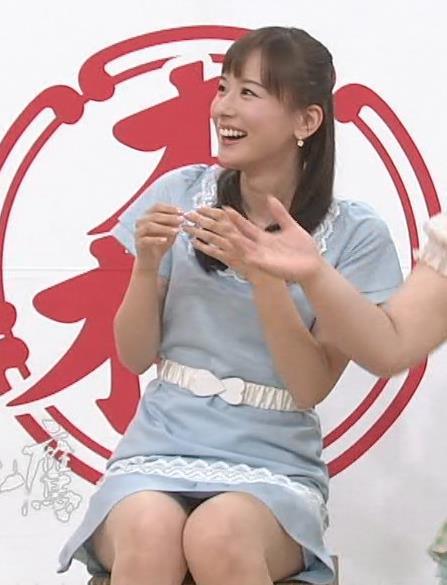 皆藤愛子 ほぼパンチラのミニスカ▼ゾーン