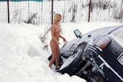 ロシア美女 雪中 野外露出ヌード画像 10