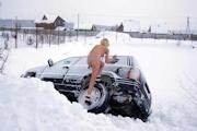 ロシア美女 雪中 野外露出ヌード画像 14
