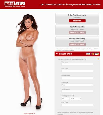 Sign Up for Naked News Today!