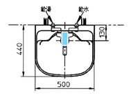 水栓 + シンクイメージ