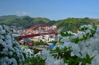 文学碑前から見た音戸大橋