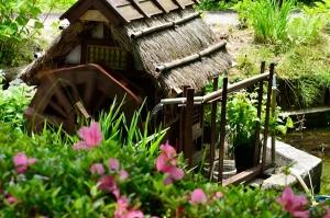 ミニチュアの水車小屋