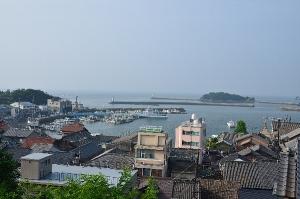 鞆城跡から見た鞆の港