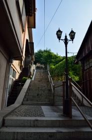 鞆城跡への階段