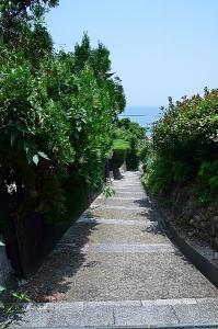 医王寺への登り道