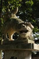 八幡神社参道の狛犬