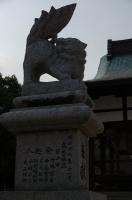 八幡神社境内の狛犬