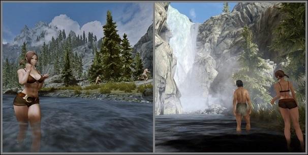 ホワイト川の大滝