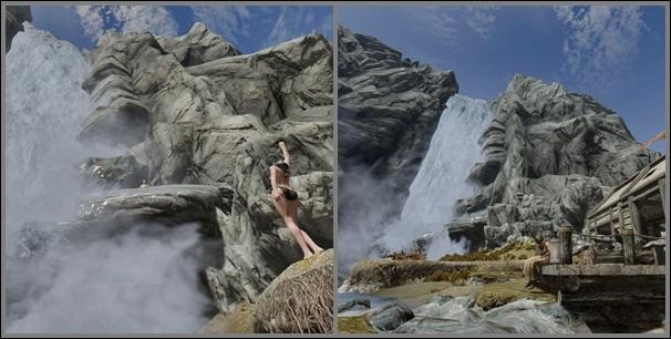 クラバー小屋大滝