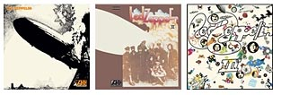 Zep first 3 albums