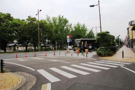 烏丸通りに合流_H26.06.07撮影