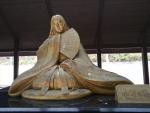 小野小町のブロンズ像