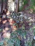 屋敷跡の見事な石垣1