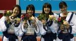 20140905swimming女子フリーリレー表彰