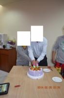 誕生ケーキカット140205