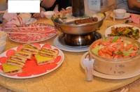 酸菜白肉鍋と蒸し海老140326