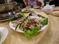 蒜泥白肉と醉雞140426