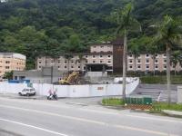 富野温泉休閒会館の前は工事中140428